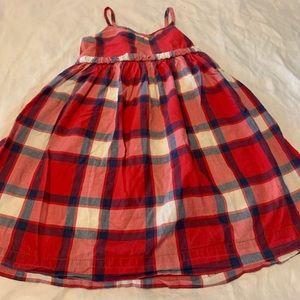Baby Gap Red Plaid Dress 3T